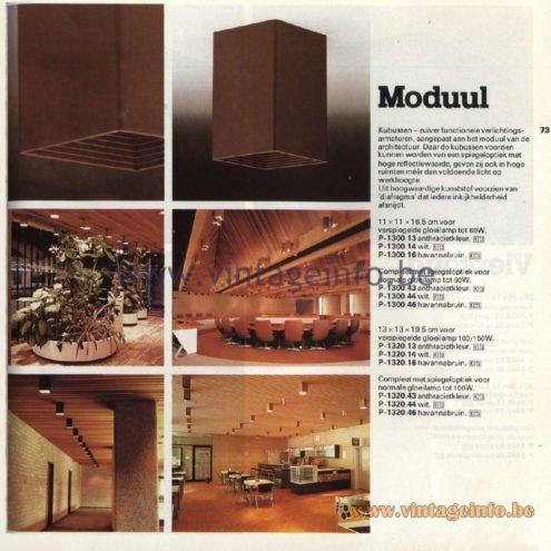 Raak Ceiling Lamps Moduul (module). P-1300.13, P-1300.14, P-1300.16, P-1300.43, P-1300.44, P-1300.46, P-1320.13, P-1320.14, P-1320.16, P-1320.43, P-1320.44, P-1320.46