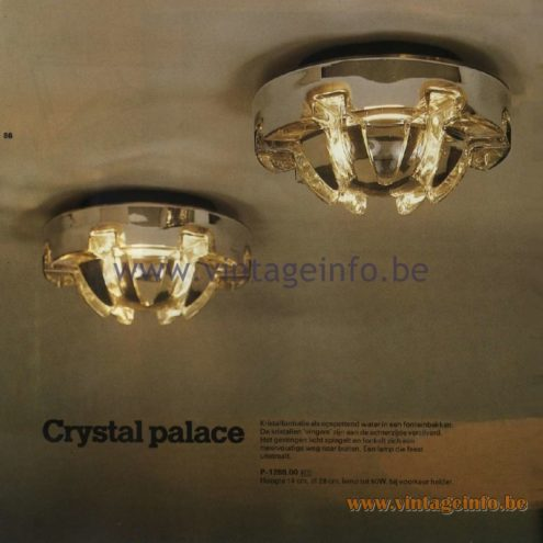 Raak Catalogue 11, 1978 - Ceiling Lamp Crystal Palace P-1288.00