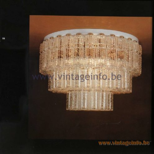 Raak Catalogue 11, 1978 - Ceiling Lamp Lichtval (lighting) P-1367.00