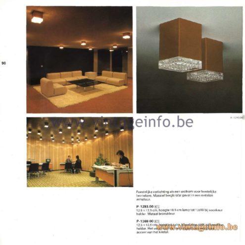 Raak Catalogue 11, 1978 - Ceiling Lamps P-1239.00, P-1369.00