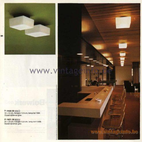 Raak Catalogue 11, 1978 - Ceiling Lamps P-1450.00, P-1451.00