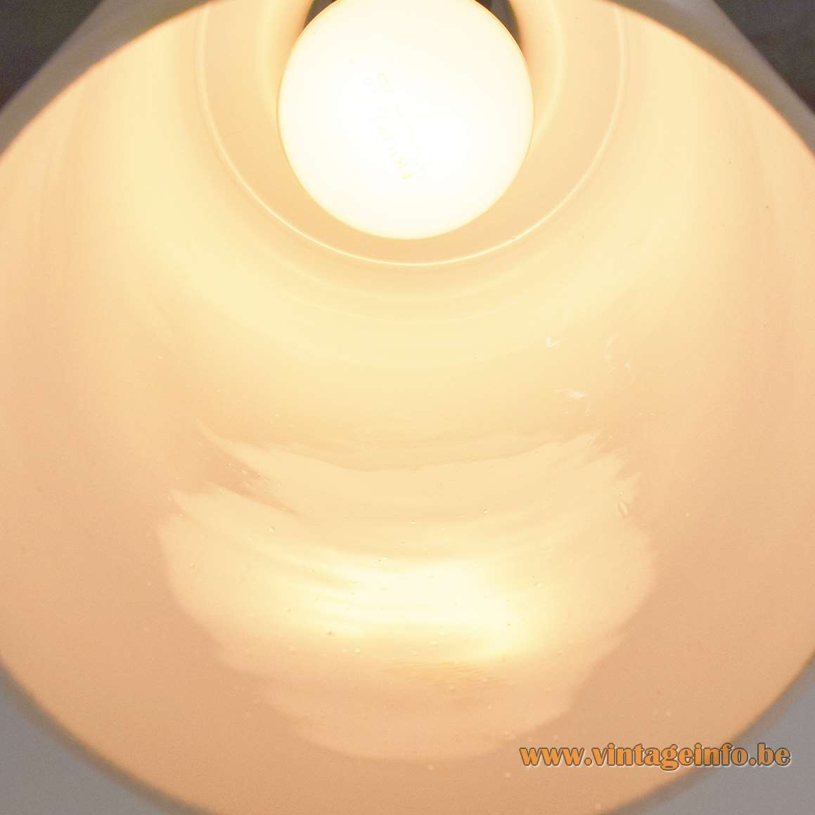 1950s Opaque Glass Pendant Lamp