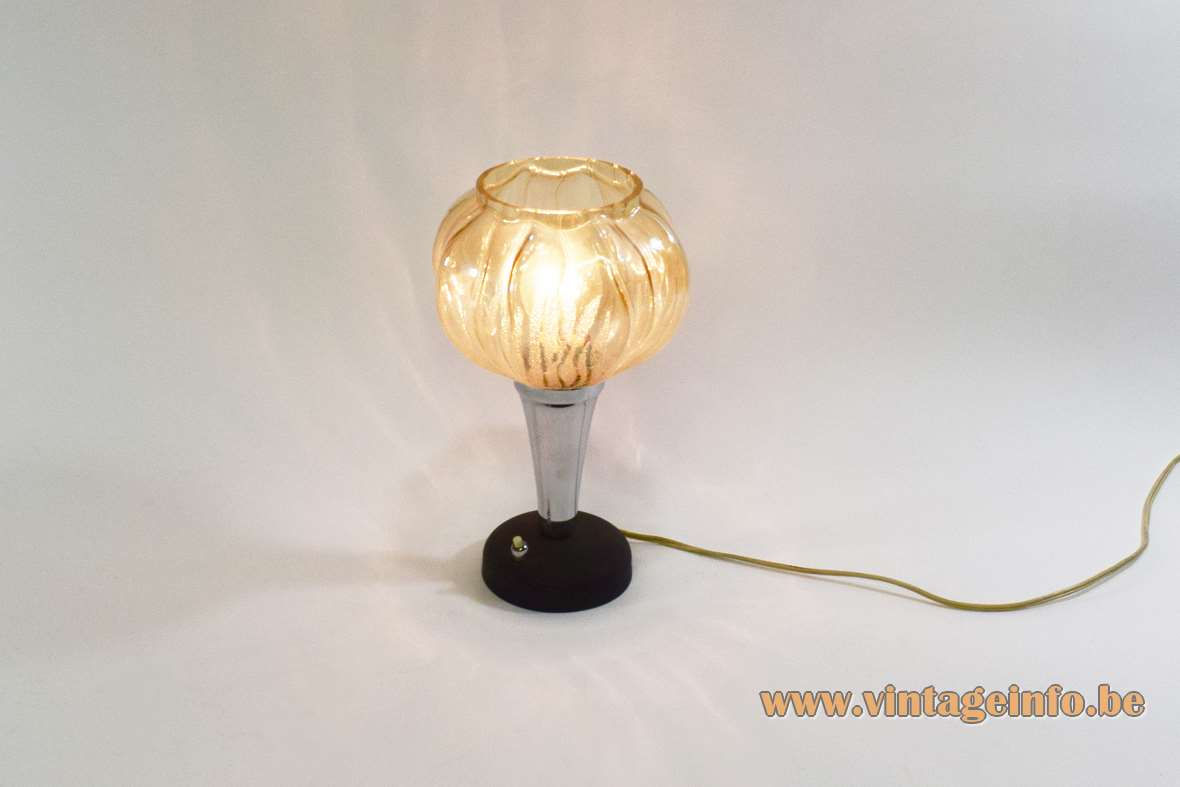 Black And Chromed Metal Table Lamp