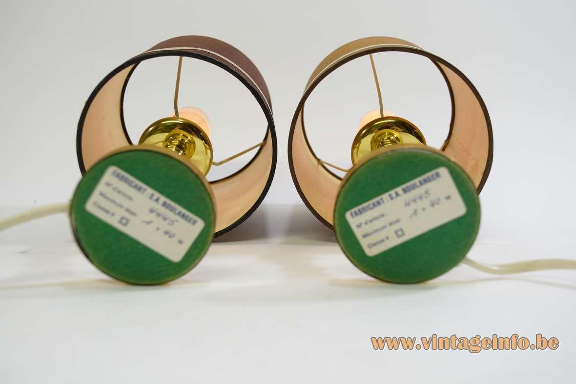 Boulanger Brass Bedside Lamps