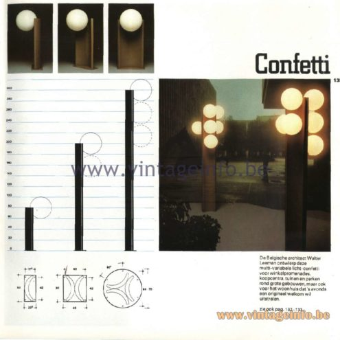 Raak Catalogue 11, 1978 - Confetti Outdoor Lamps