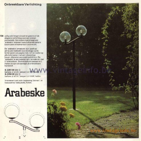 Raak Arabeske Outdoor/Garden/Street Lamp S-2257.00, S-2258.00 - Onbreekbare Verlichting: Unbreakable Llighting