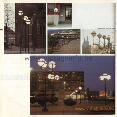 Raak Kosmos Outdoor/Garden/Street Lamp. Design by architects ir. D. van Mourik, ir J. W. du Pon