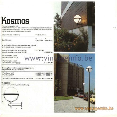 Raak Kosmos Outdoor/Garden/Street Lamps. Design by architects ir. D. van Mourik, ir J. W. du Pon