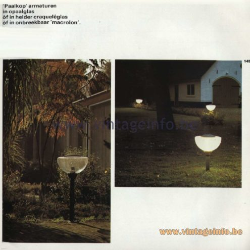 Raak Catalogue 11, 1978 - Raak Paalkop (pole head) Outdoor/Garden/Street Lamp