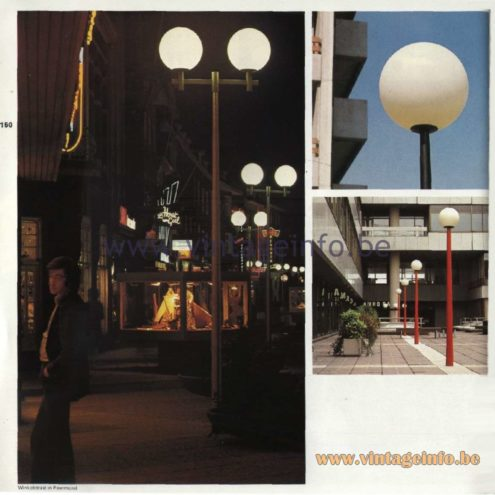 Raak Catalogue 11, 1978 - Raak Paalkop (pole head) Outdoor/Garden/Street Lamps