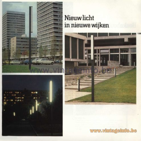 Raak Catalogue 11, 1978  - Outdoor lamps - Nieuw licht in nieuwe wijken - New light in new neighborhoods
