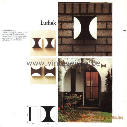 Raak Catalogue 11, 1978 - Outdoor Lamps Ludiek - Playful - C-1552.00