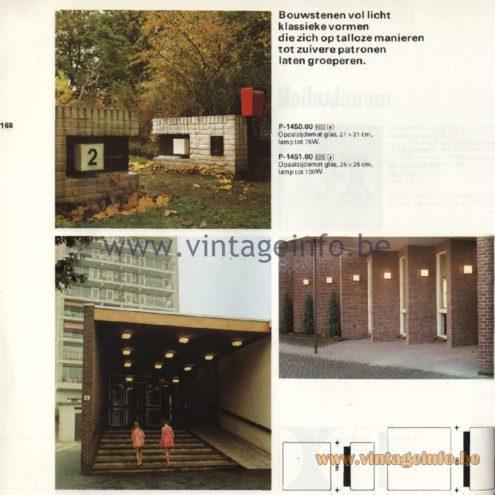 Raak Catalogue 11, 1978 - Outdoor Lamps Bouwstenen - Building Blocks P-1450.00, P-1451.00