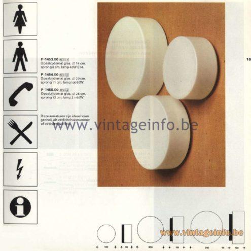 Raak Catalogue 11, 1978 - Outdoor Lamps Bouwstenen - Building Blocks P-1453.00, P-1454.00, P-1455.00