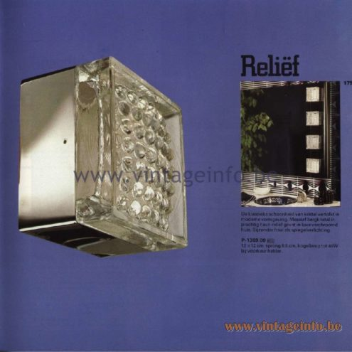 Raak Catalogue 11, 1978 – Outdoor Wall Lamps Reliëf - P-1369.00