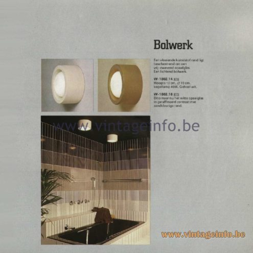 Raak Catalogue 11, 1978 - Raak Outdoor Lamps Bolwerk - Stronghold W-1802.14, W-1802.16