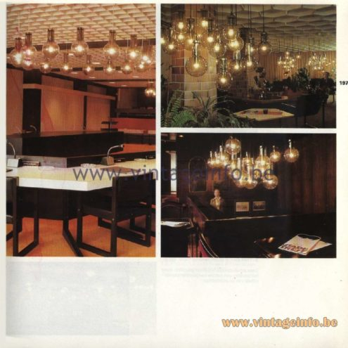 Raak Catalogue 11, 1978 - Pendant Lamps & Chandeliers Maxi-lamp