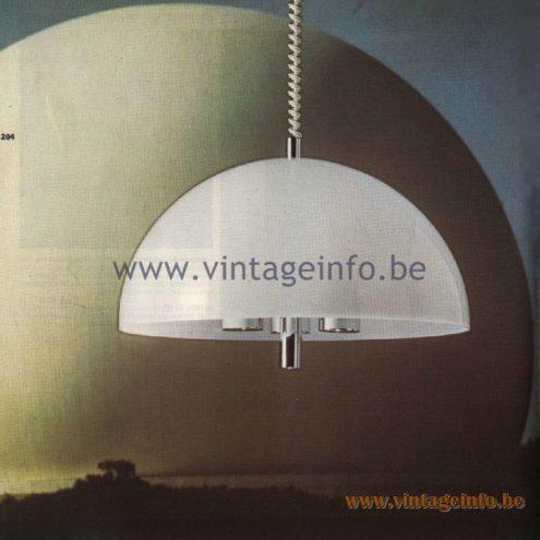 Raak Catalogue 11, 1978 - El Duomo Pendant Lamp
