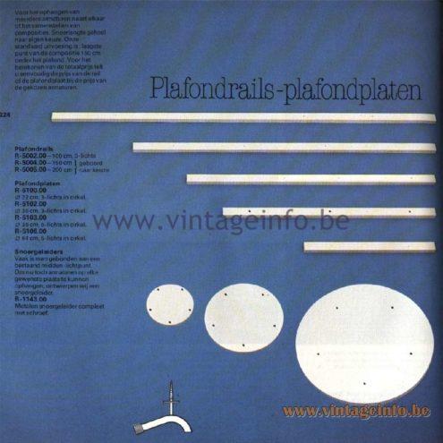 Raak Catalogue 11, 1978 - Raak Plafondrails, Plafondplaten
