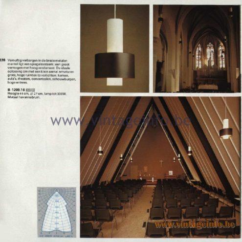 Raak Catalogue 11, 1978 - Raak Pendant Lamp B-1209.16