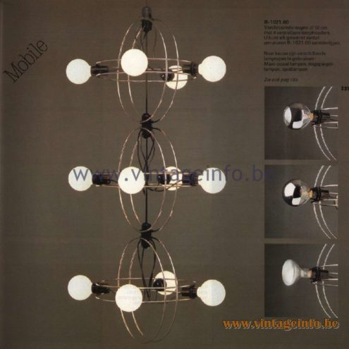 Raak Catalogue 11, 1978 - Raak Mobile Pendant Lamp B-1021.00
