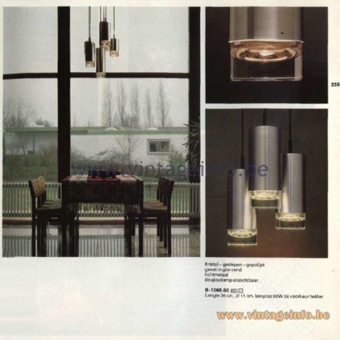 Raak Catalogue 11, 1978 - Raak Pendant Lamps B-1068.00