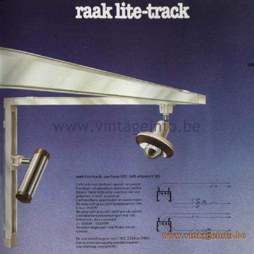 Raak Catalogue 11, 1978 - Raak Lite-Track