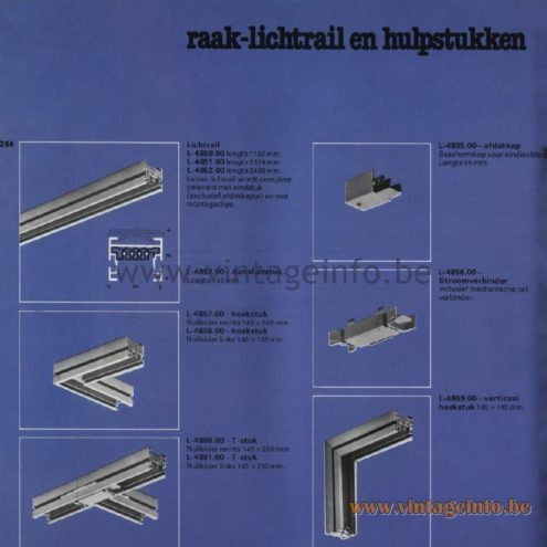 Raak Catalogue 11, 1978 - Raak Lichtrail en hulpstukken (light rail and accessories)