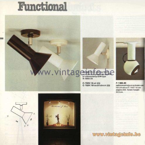 Raak Catalogue 11, 1978 - Raak Functional Spot Lights C-1524.14, C-1524.16, P-1365.00
