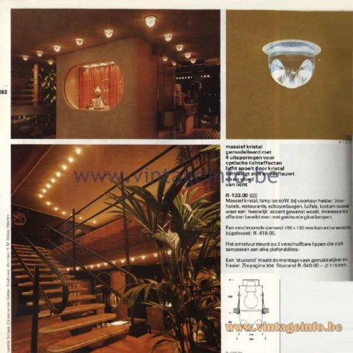 Raak Catalogue 11, 1978 – Raak Dwerginbouw Spots (dwarf recessed spotlights) R-133.00