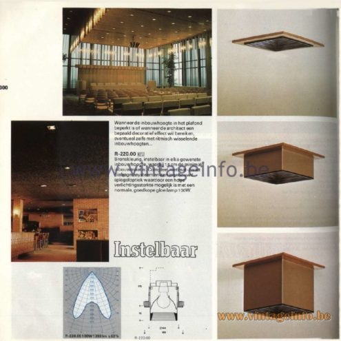 Raak Catalogue 11, 1978 - Raak Recessed Spotlights Instelbaar (adjustable) R220.00