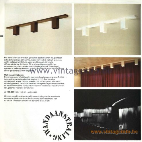 Raak Catalogue 11, 1978 – Raak Surface-Mounted Luminaires A-190.000
