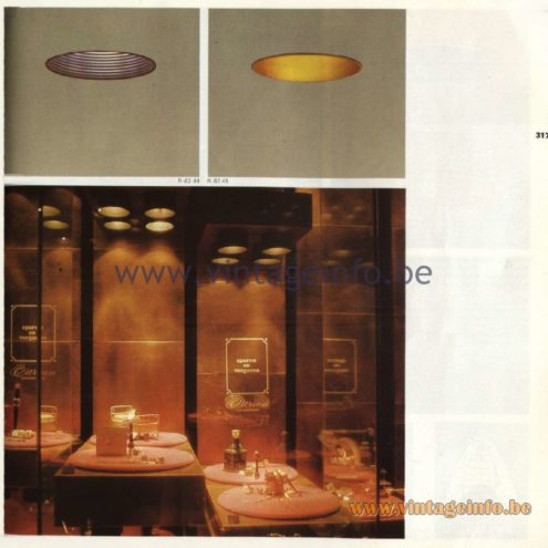 Raak Catalogue 11, 1978 - Instelbaar - adjustable recessed spotlight R-82.44, R-82.45