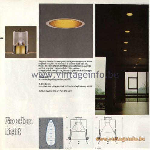 Raak Catalogue 11, 1978 - Raak Recessed Luminaires Gouden licht - Golden light R-84.64, R-84.45