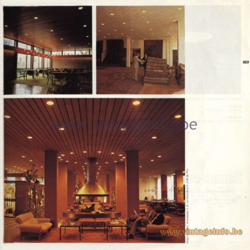 Raak Catalogue 11, 1978 – Raak Recessed Luminaires - Hilton hotel, Schiphol, The Netherlands