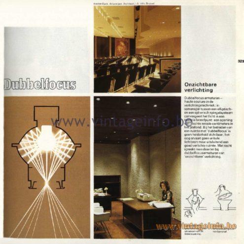 Raak Catalogue 11, 1978 - Raak Dubbelfocus, onzichtbare verlichting - Double focus, invisible lighting