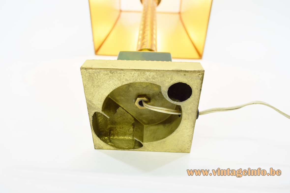 1960s Brass & Onyx Table Lamp