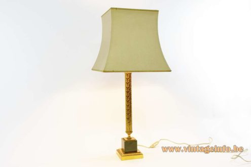 1960s Brass & Onyx Table Lamp