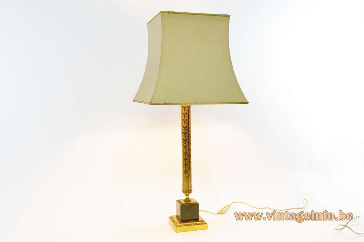 1960s Brass Amp Onyx Table Lamp Vintage Info All About