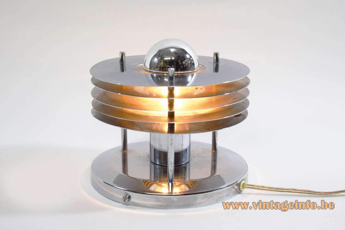 Chromed Saturn Wall Lamp