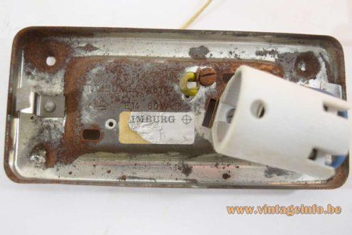 Glashütte Limburg Amber Glass Wall Lamp - Label Base