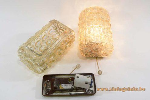 Glashütte Limburg Amber Glass Wall Lamps