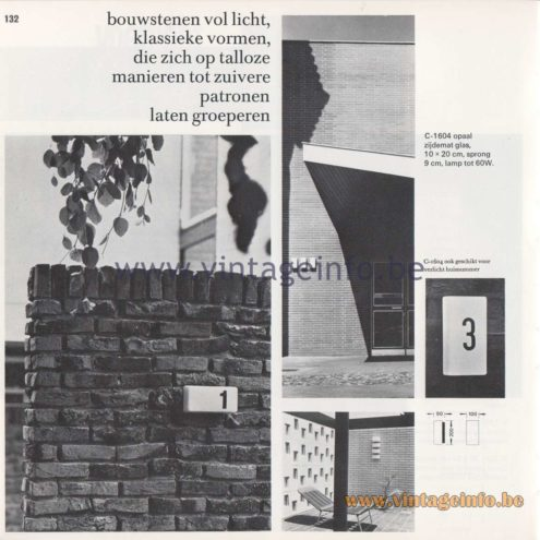 Raak Amsterdam Light Catalogue 8 - 1968 - Raak Garden/Outdoor Lamp C-1604 - Bouwstenen - Building Blocks