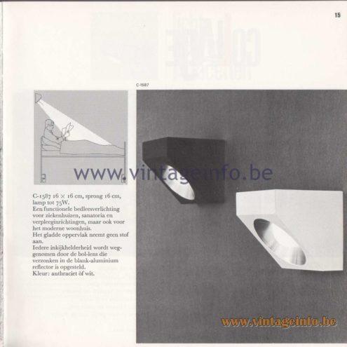 Raak Amsterdam Light Catalogue 8 - 1968 - Wall Lamp C-1587