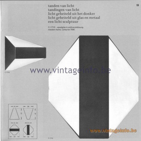 Raak Amsterdam Light Catalogue 8 - 1968 - Wall Lamp C-1710