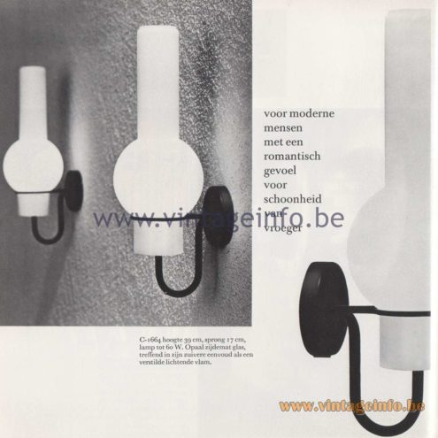 Raak Amsterdam Light Catalogue 8 - 1968 - Raak Wall Lamp C-1664