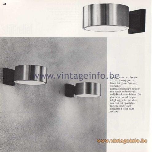 Raak Amsterdam Light Catalogue 8 - 1968 - Raak Wall Lamp C-1506