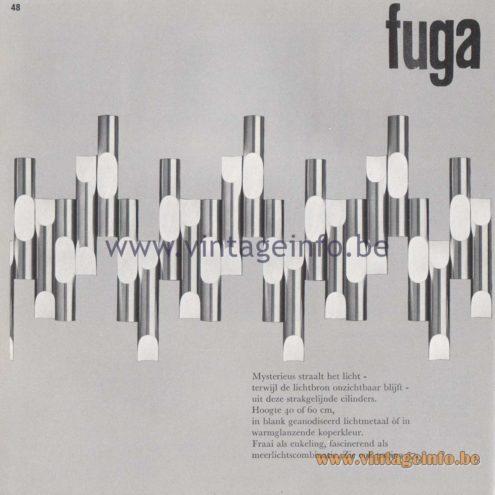 Raak Amsterdam Light Catalogue 8 - Raak Wall Lamp Fuga - Design Maija Liisa Komulainen
