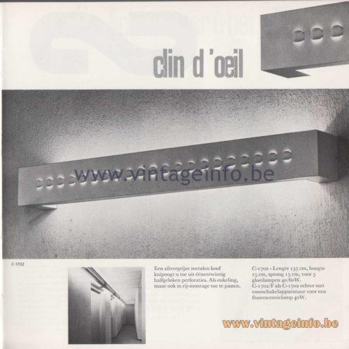 Raak Amsterdam Light Catalogue 8 - Raak Wall Lamp Clin d'Oeil C-1702