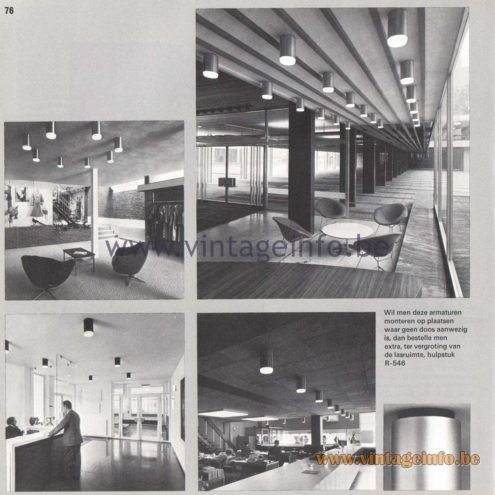 Raak Amsterdam Light Catalogue 8 - 1968 - Raak Flush Mount R-546